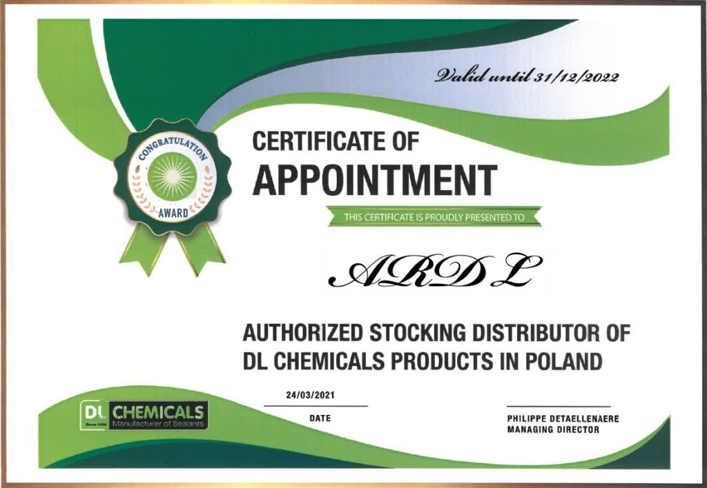autoryzowany importer DL Chemicals